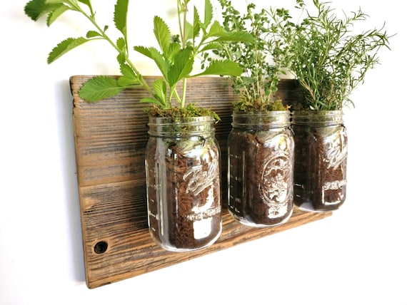 Reclaimed Wood Herb Planter Rustic Herb By RomanReclamation