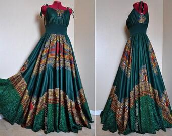 Dashiki summer long dress