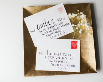 hand lettered envelopes/ wedding addressed envelopes/ hand printed envelopes/ calligraphy envelopes/wedding envelopes/ hand addressed