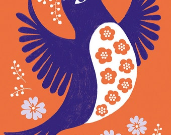 Birdsong Folded Postcard