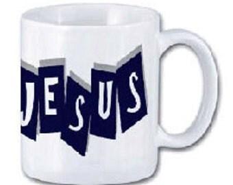 The wonderful name of Jesus mug