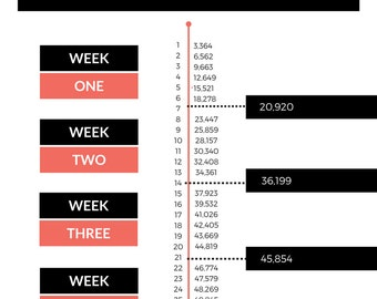 ON SALE! NanoWriMo Word Count Calendar | Nanowrimo Printable Worksheet | Work Count Tracker | Novel Writing Worksheet