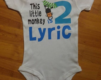 This little monkey is, birthday, boy's birthday, monkey party, monkey theme, first birthday, second birthday, monkeys, birthday number
