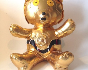 Ours C-3Po - Peluche artisanale collector - pièce exceptionnelle Star Wars