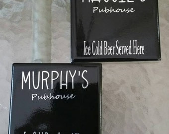 Personalized Pub Coasters set of 2