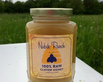 100% RAW CLOVER HONEY 18 oz Jar