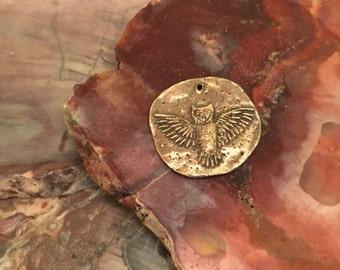 Flying Owl Bronze Coin/Pendant (BRONZE)