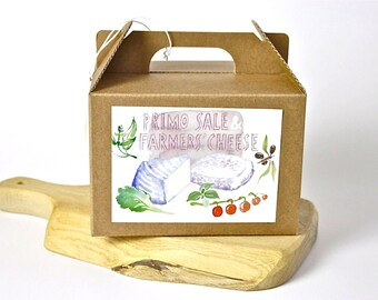 Primo Sale and Farmers' Cheese (paneer) - DIY cheese kit - recipe cards - gift box - do it yourself - italian food recipe cheese making
