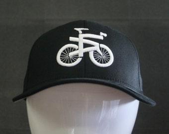 Just Ride LA Hats - Flex Fit - White on Black