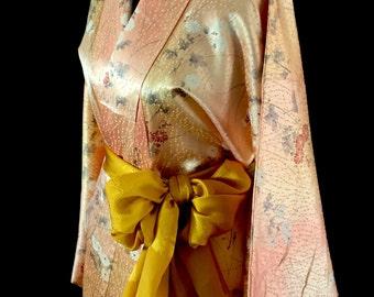 Vintage Japanese Kimono / Komon / Chrysanthemum / 056A0816-07
