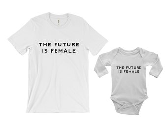 The Future is Female Baby Onesie - Infant one-piece - Feminism Shirt - Feminist Shirt - Women's Rights - Women's Movement-Girl Power-GRL PWR