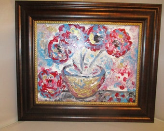 Flowers in the golden vase