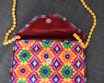 Traditional yet Trendy Clutch/Sling Bag - Thread Embroidered