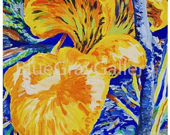 Jack-o'-Lantern - Impressionist Painting Print - BlueGrayGallery