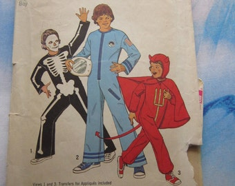 Simplicity 6696 1974 Kids Costume Pattern 4-6