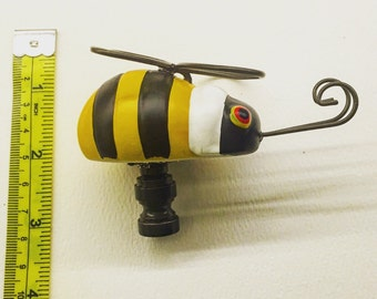 A Custom Lamp Finial with a Happy Bumble Bee