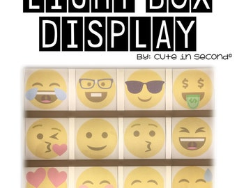 Light Box Display- Emoji Set