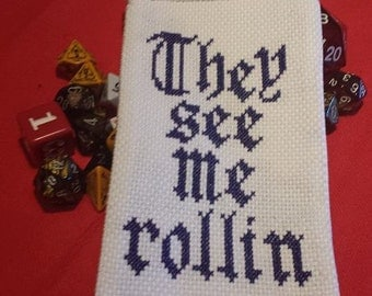 They See Me Rollin' D&D Dice Bag Pattern
