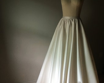 Ivory Satin Ballgown Skirt with Pockets