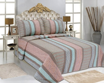 Striped Patchwork Accent Quilt Set