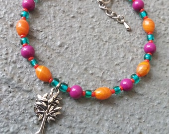 Silver Tree Bracelet