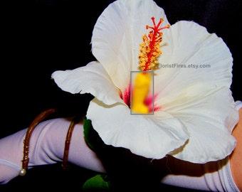 Hi-dick-sus™ Hibiscus Penis French Tickler Wedding Wrist Corsage Bachelor Bachelorette Party Bracelet Adult Novelty Gift