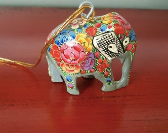 Hand-Painted Elephant Ornament
