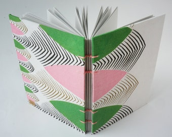 Journal, Art Journal, Notebook, Sketchbook or Guestbook, Hand-Bound with a Vintage Tablecloth