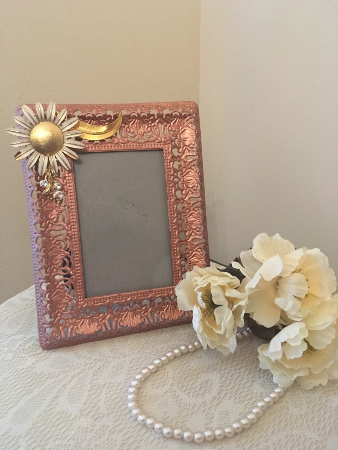 Sale rose gold home decor copper decor picture frame for Gold home decorations