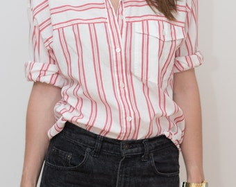 White & Red Striped shirt