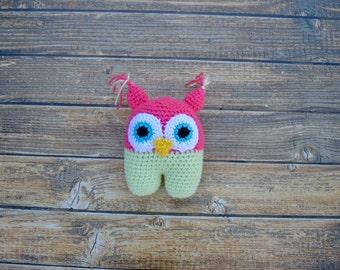 Crochet Owl, Owl Stuffy, Stuffed Owl, Crochet Owl Doll, Owl Toy, Plush Owl, Owl Plushy, Amigurumi Owl, Baby Owl, Handmade Toy, Isabella Owl