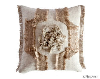 ECO LINEN Decorative Pillow Cover, Linen Pillow Cover, Linen Pillow, Natural Pillow Case, Hemp Pillow, Eco Pillow, Square Pillow Cover
