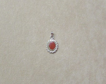 jasper STERLING silver pendant.