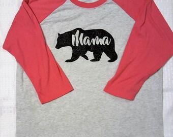 Mama Bear Baseball Tee