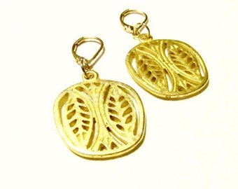 "Golden Dangle Earrings-""April""-Simplicity Collection"