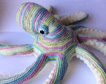 Crochet stuffed animal Frank Octopus