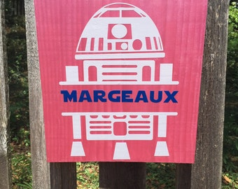 Personalized R2D2 Sign