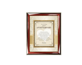 Personalized Poetry Anniversary Present Picture Frame