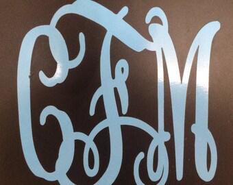 "4"" custom monogram"