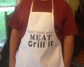 Funny men's apron