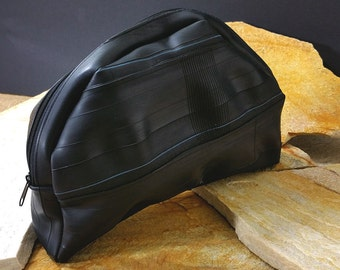 Toiletry bag, Necessaire, wash bag, beach bag from black tube