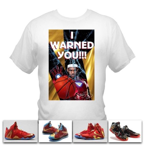 Lebron James Ironman White T-Shirt made to match Nike Lebron Iron man shoe series