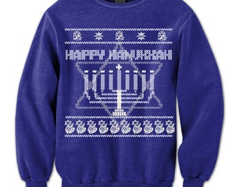 Happy Hanukkah Sweater. Holiday Of Light Sweatshirt. Candle. Jewish Holiday. Menorah cand