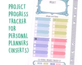 Printed and Cut Project Progress Tracker Inserts