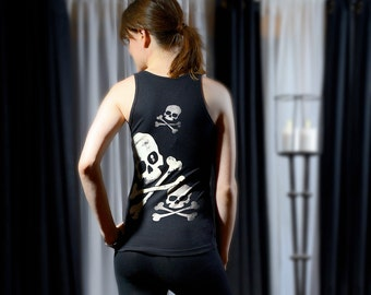 Midnight Think Tank Skull and Bones Black