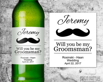 CUSTOM Will You Be My Groomsmen, Groomsmen Beer Labels, Be My Usher, Beer Labels, Groomsmen Gifts, Will You Be my Groomsmen, Asking Usher