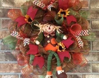 SALE!! Autumm wreath,Fall Wreath,Deco Mesh Wreaths,Autumn Wreaths,Beautiful Fall Wreaths