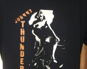 Johnny Thunders - PUNK ROCK T-Shirt Hand-Crafted 100% Cotton
