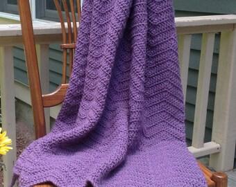 "Crochet Throw/Crochet Blanket/40""x60"" Throw/Handmade Throw"