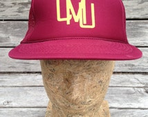 Vintage 80s 90s CENTRAL MICHIGAN University CHIPPEWAS snapback mesh trucker hat by Cameo - One size - cmu